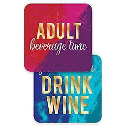 Design Design Adult Beverage Time Coasters (Set of 10)