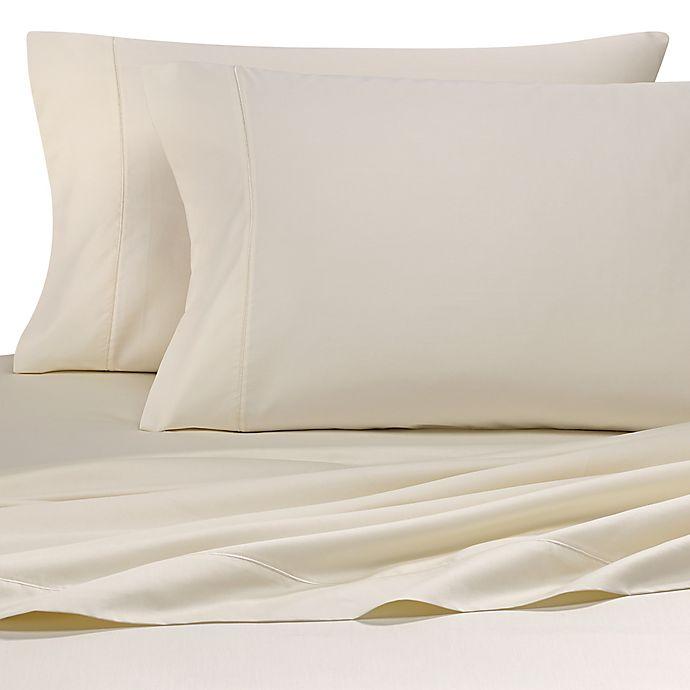 Alternate image 1 for Wamsutta® Pima  500-Thread-Count Split Queen Sheet Set in Ivory