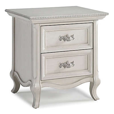 Bel Amore Lyla Rose Nightstand in White Willow