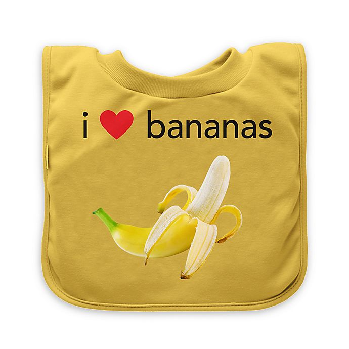 Alternate image 1 for green sprouts® Banana Favorite Food Absorbent Bib