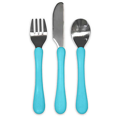 green sprouts® Learning Cutlery Set in Aqua