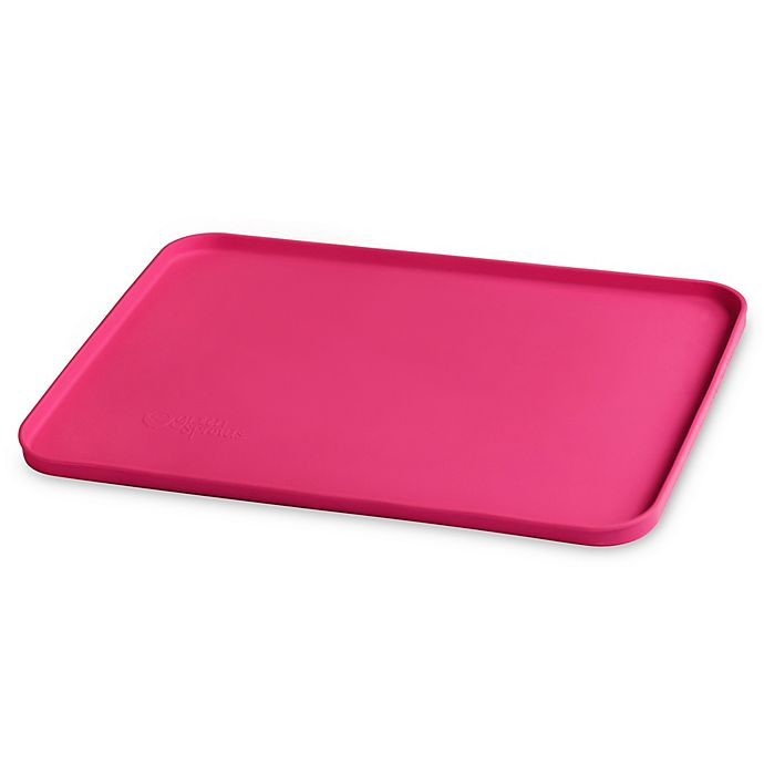 Alternate image 1 for green sprouts® by i play.® Finger Food Silicone Platemat in Pink