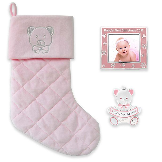 Alternate image 1 for Harvey Lewis™ 3-Piece Baby's First Christmas 2017 Gift Set