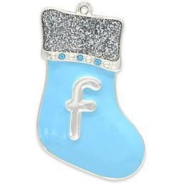 Crystals from Swarovski® Monogram Silver-Plated Baby Boy Ornament