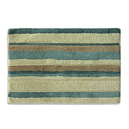 Bacova Tetons Stripe Bath Rug in Ivory/Brown