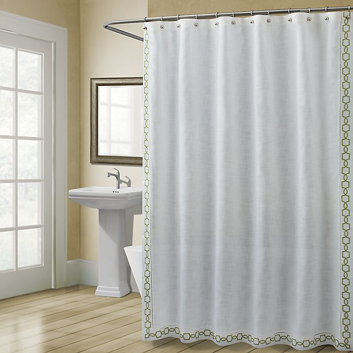 Alternate image 1 for Croscill® Landon 72-Inch x 84-Inch Shower Curtain in Green