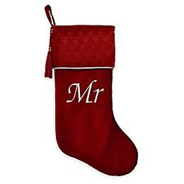 Harvey Lewis™ Embroidered Velvet Mr. Stocking