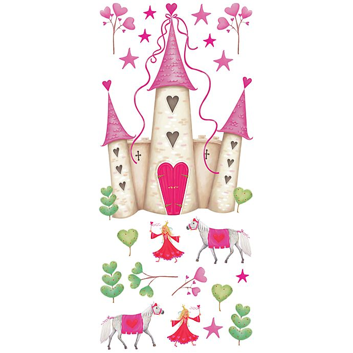 Alternate image 1 for RoomMates Peel and Stick Wall Decals in Princess Castle