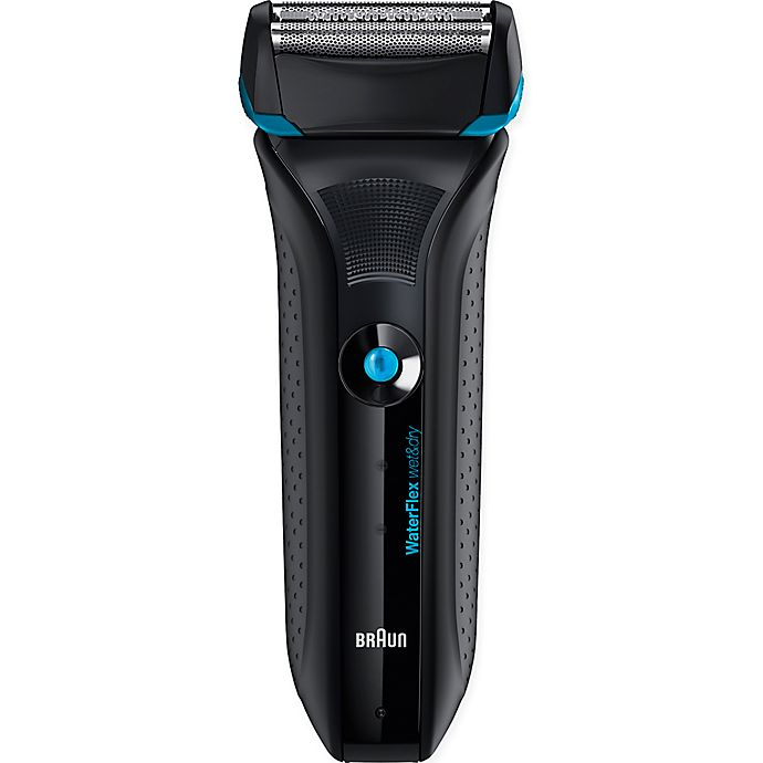 Alternate image 1 for Braun WaterFlex Wet & Dry Men's Electric Shaver in Blue