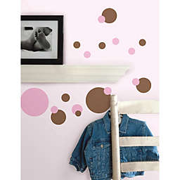 RoomMates Peel and Stick Wall Decals in Pink Dots