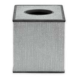 Bacova Peyton Boutique Tissue Box Cover in Grey