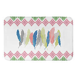Designs Direct 34-Inch x 21-Inch Funky Feather Bath Mat in Pink