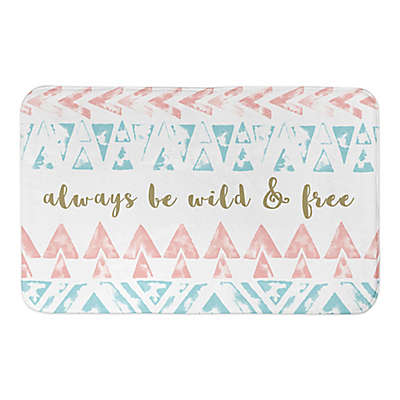 Designs Direct 34-Inch x 21-Inch Wild and Free Bath Mat in Blue