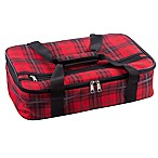 Home Essentials & Beyond Insulated Casserole Carrier in Red Plaid