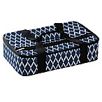 Home Essentials & Beyond Insulated Casserole Carrier in Navy/White Diamond