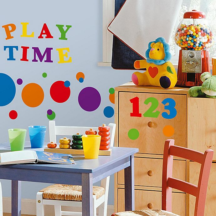 Alternate image 1 for RoomMates® Peel and Stick Wall Decals - Primary Numbers