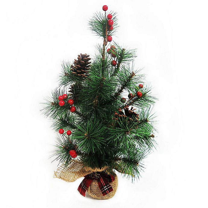 Local Christmas Trees: 18-Inch Burlap Artificial Christmas Tree