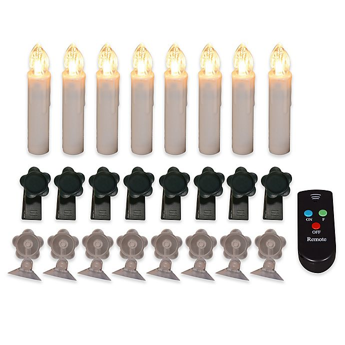 Alternate image 1 for LED Candle Lamps with Remote Control (Set of 8)