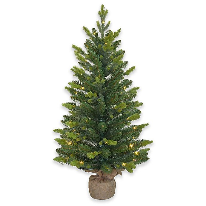 3-Foot Pre-Lit Mini Artificial Christmas Tree - 3-Foot Pre-Lit Mini Artificial Christmas Tree Bed Bath & Beyond