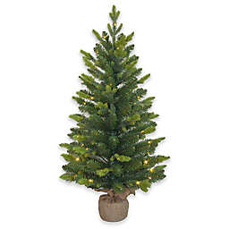 3 foot pre lit mini artificial christmas tree
