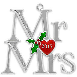 Crystals from Swarovski® Silver-Plated Mr. and Mrs. Christmas Ornament