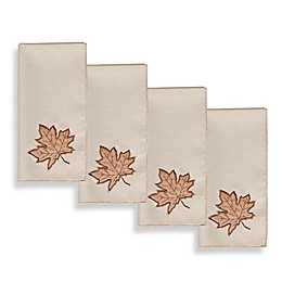 Sam Hedaya Burwell Leaf Cutwork Napkins (Set of 4)