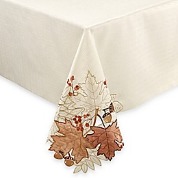 Sam Hedaya Burwell Leaf Cutwork Tablecloth in Ivory