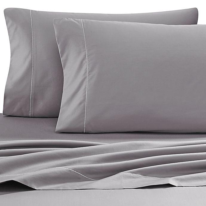 Alternate image 1 for Wamsutta® 500-Thread-Count PimaCott® Sofa Bed Queen Sheet Set in Grey