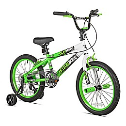 Kent Action Zone 18-Inch Boy's Training Bicycle in Black/Green