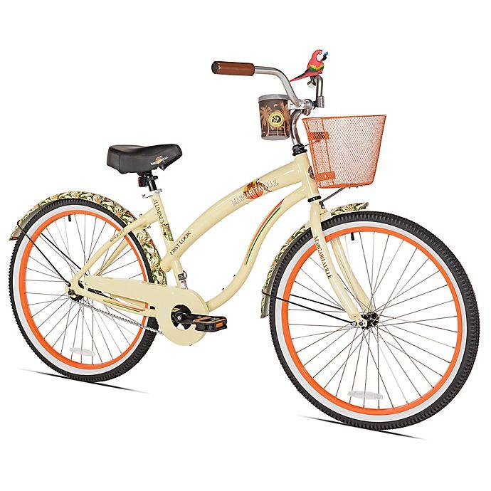 Alternate image 1 for Margaritaville First Look 26-Inch Ladies' Cruiser Bicycle in Tan/Orange