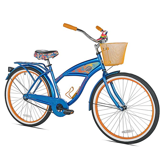 Alternate image 1 for Margaritaville 26-Inch Ladies' Cruiser Bicycle in Blue/Orange