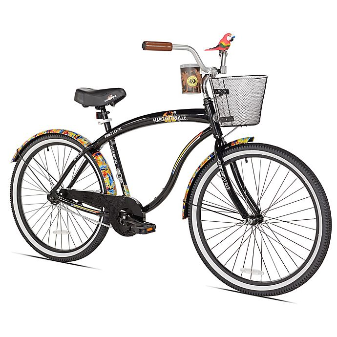 Alternate image 1 for Margaritaville First Look 26-Inch Men's Cruiser Bicycle in Black