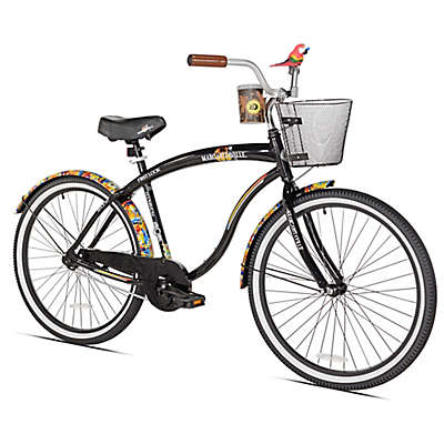 Margaritaville First Look 26-Inch Men's Cruiser Bicycle in Black