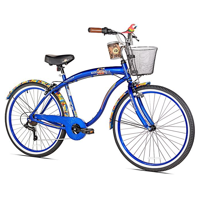 Alternate image 1 for Margaritaville Coast is Clear 26-Inch Men's Cruiser Bicycle in Blue