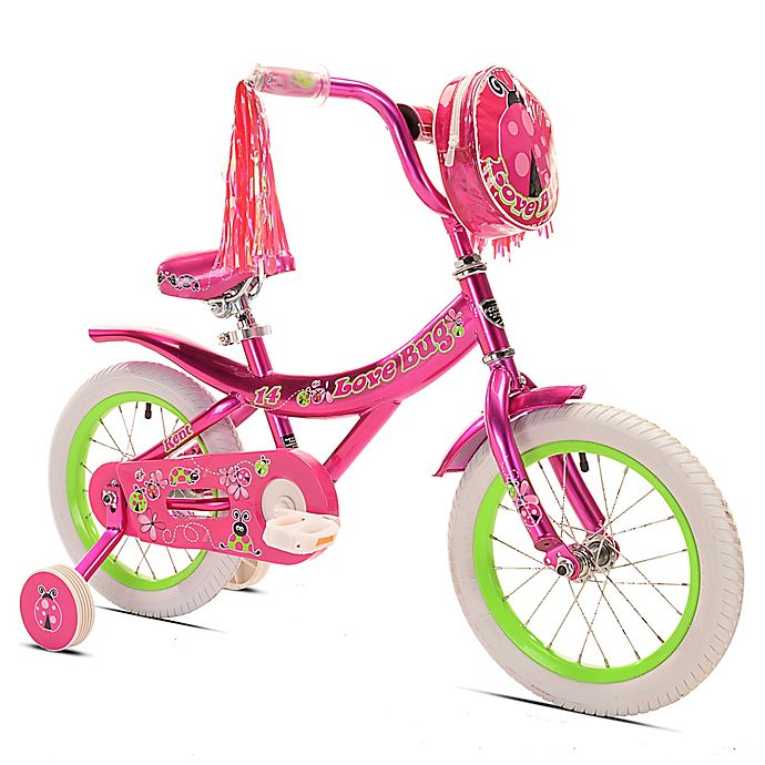 Alternate image 1 for Kent Love Bug 14-Inch Girl's Bicycle in Pink/Green