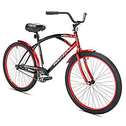 Kent Rockvale 26-Inch Men's Cruiser Bicycle in Black/Red