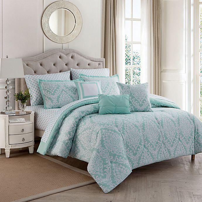 Alternate image 1 for Hyde Damask 10-Piece Comforter Set