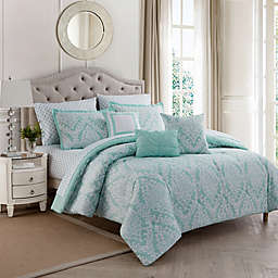 Hyde Damask 10-Piece Comforter Set