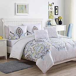 VCNY Home Shazia 5-Piece Reversible Comforter Set in Gold