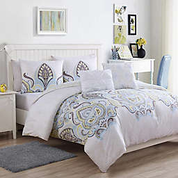 VCNY Home Shazia Reversible Comforter Set in Gold
