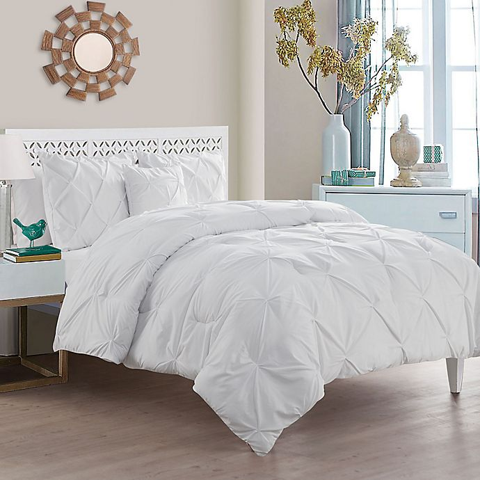 Alternate image 1 for VCNY Home Carmen 4-Piece Queen Comforter Set in White