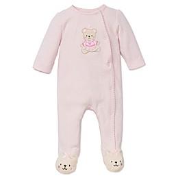 Little Me® Preemie Sweet Bear Footie in Pink