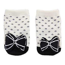 Cuddl Duds® Newborn Mary Jane Rattle Socks in Grey