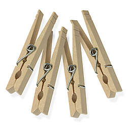 Honey-Can-Do® 50-Pack Classic Spring Wooden Clothespins
