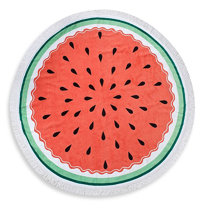 Alternate image 1 for Watermelon Round Beach Towel
