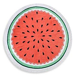 Watermelon Round Beach Towel