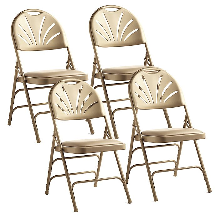 Swell Samsonite Fanback Leather Memory Foam Folding Chairs Set Ibusinesslaw Wood Chair Design Ideas Ibusinesslaworg