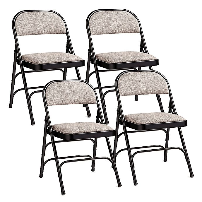 Phenomenal Samsonite Padded Folding Chairs In Black Grey Set Of 4 Caraccident5 Cool Chair Designs And Ideas Caraccident5Info