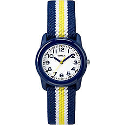 Timex® Time Machines Children's 29mm Watch with Blue/Yellow Nylon Strap