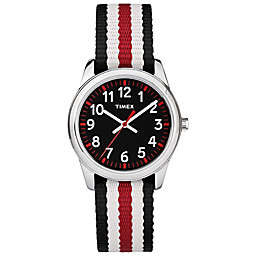 Timex® Time Machines Children's 30mm Watch with Black/Red Nylon Strap